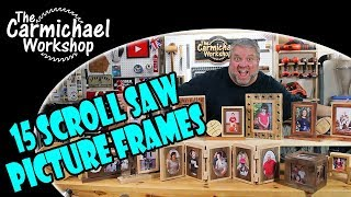 These 15 scroll saw picture frames are easy woodworking projects that make great gifts. Get creative and customize them to