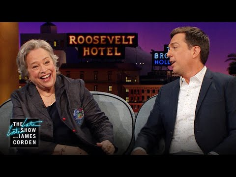 Kathy Bates' Great Danes Loved Ed Helms on 'The Office'