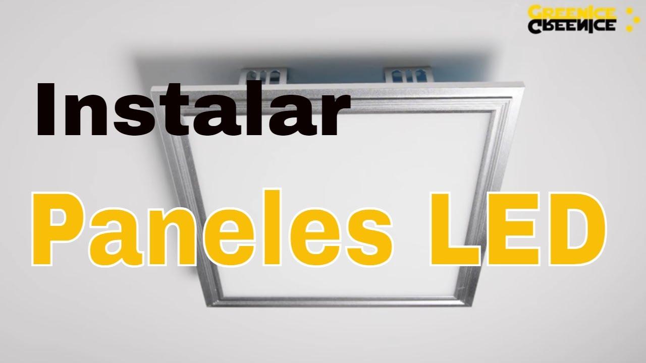 Instalación de Paneles LED con marco - YouTube