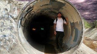 Mysterious Glowing Eyes In Haunted Tunnel | OmarGoshTV