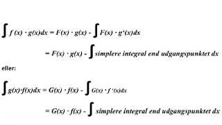 partiel integration og/eller integration ved substitution