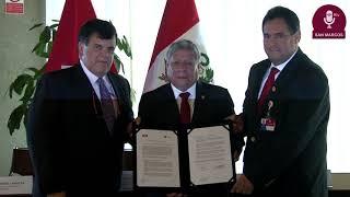Tema: Firma de convenio con Petroperú