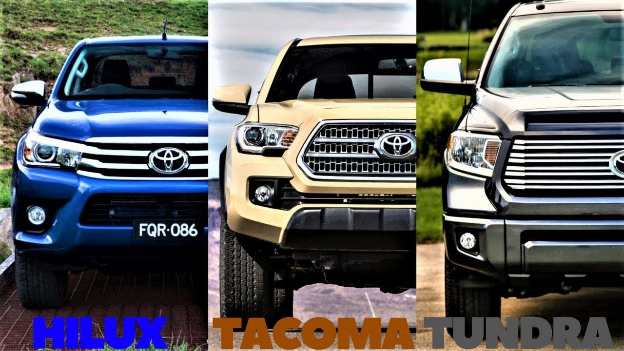 Tundra Vs Tacoma >> Hilux Vs Tacoma Vs Tundra All Three Toyota Trucks Compared