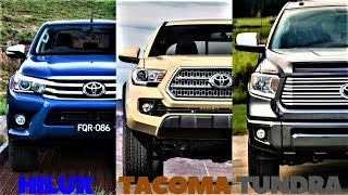 HILUX VS TACOMA VS TUNDRA ! ALL THREE TOYOTA TRUCKS COMPARED !