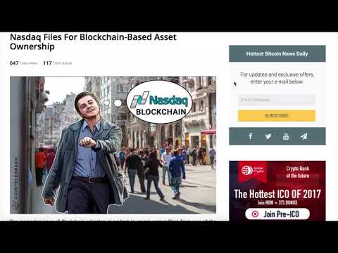 NASDAQ Files for Blockchain Based Asset Ownership