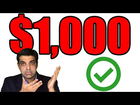 $1000 Stimulus Checks in NEW Stimulus Bill (EIDL Grant) Approved: How to Get Yours