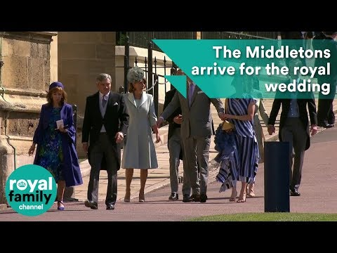 Middleton Family arrive at Royal Wedding 2018 of Prince Harry and Meghan Markle