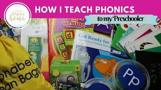 Homeschool Preschool Phonics Curriculum || How I Taught My Preschooler to Read || June 2017
