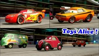 Cars 2 Game Play - 3 Players Battle Race 3