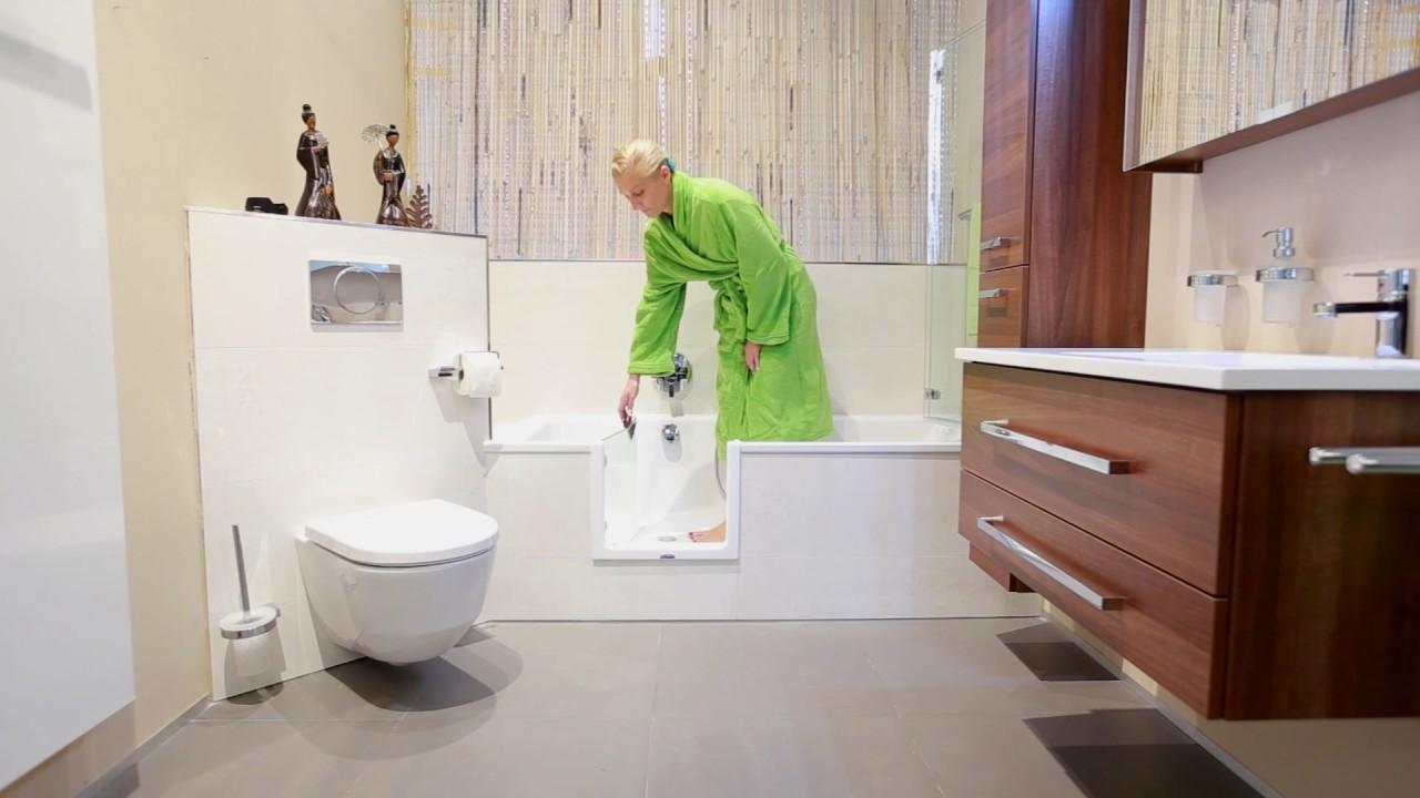 Barrierefreies Bad – Wanne zur Dusche – Begehbare Badewanne ...