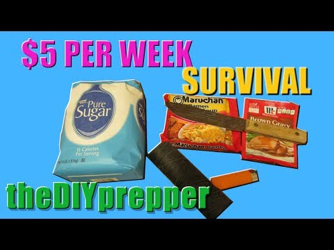 $5.00 prepping on a budget for SHTF ep3- budget prepping