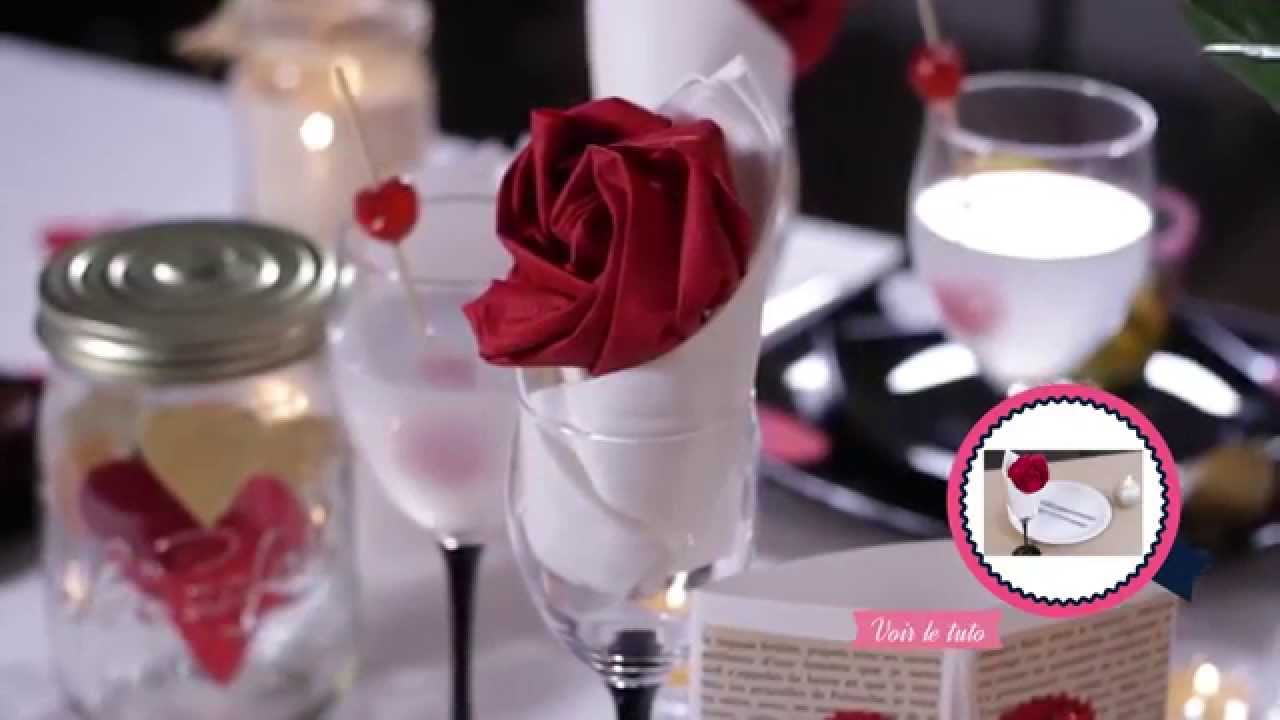 diy saint valentin d coration de table romantique youtube. Black Bedroom Furniture Sets. Home Design Ideas