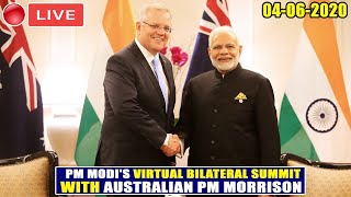 LIVE: PM Modi's First Ever Virtual Summit with Australian PM Morrison | 04-06-2020 |YOYO TV Kannada