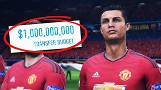 I Gave MANCHESTER UNITED 1 BILLION DOLLARS!!! FIFA 19 Career Mode