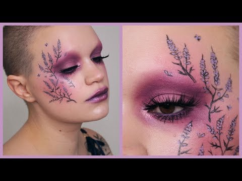 Purple heather | Floral makeup tutorial