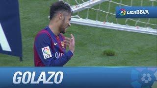 gol de neymar tras una gran asistencia de messi 1 0 en el fc barcelona levante ud