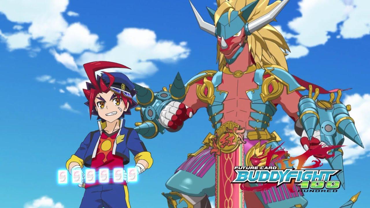 Future card buddyfight 100 Episode 1 Anime review-crimson battler drum bunker dragon - YouTube
