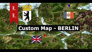 Cossacks 2 Battle for Europe - Custom Map- Berlin: Britain vs France (#19) W/O Commentaries