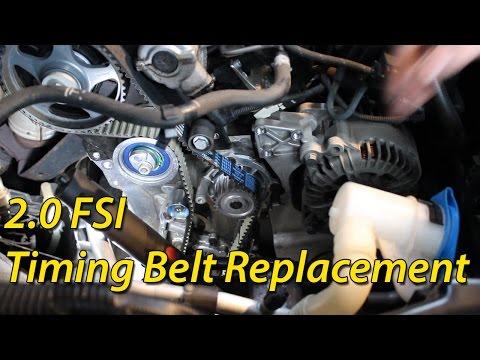 How To Timing Belt Replacement Seat / Skoda / Volkswagen 2.0 FSI