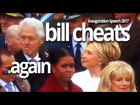 Hillary Clinton Catches Bill Saying F*CK While Staring Ivanka Trump   Michelle @ Inauguration Speech
