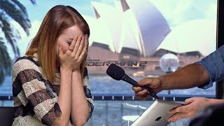Emma Stone Brought to Tears by Mel B!
