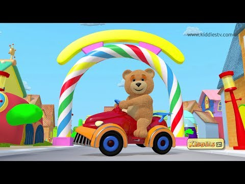 Teddy bear | Teddy bear makes his car | Best Kindergarten | Kids Parenting Preschool Baby Kiddiestv