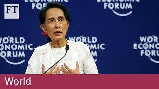 Aung San Suu Kyi defends jailing of Myanmar journalists