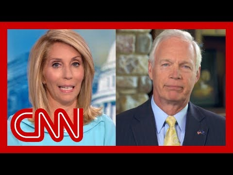 Dana Bash presses Sen. Ron Johnson to disavow President Trump's attacks on Dems