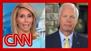 Dana Bash presses Sen. Ron Johnson to disavow President Trump's attacks on Dems