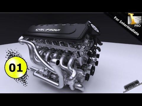 Autodesk Inventor tutorial   V12 engine   Ep 01  Full HD 😍