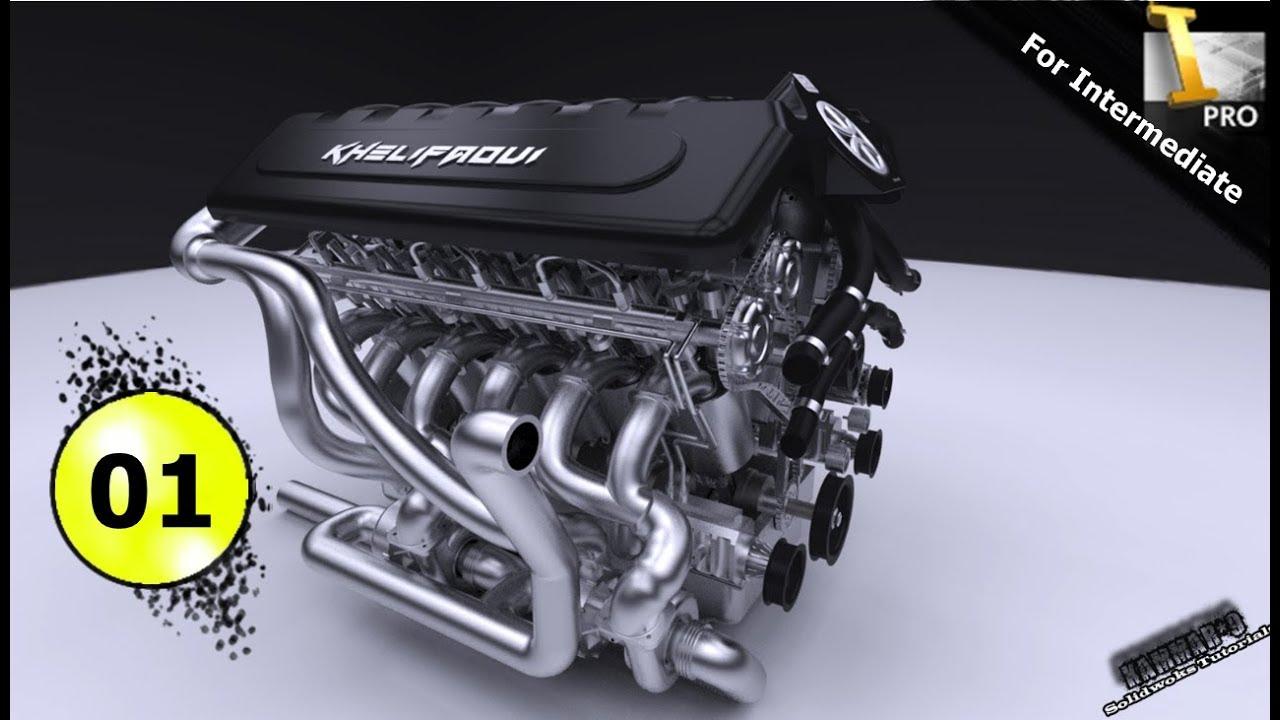 Autodesk Inventor Tutorial V12 Engine Ep 01 Full Hd Youtube