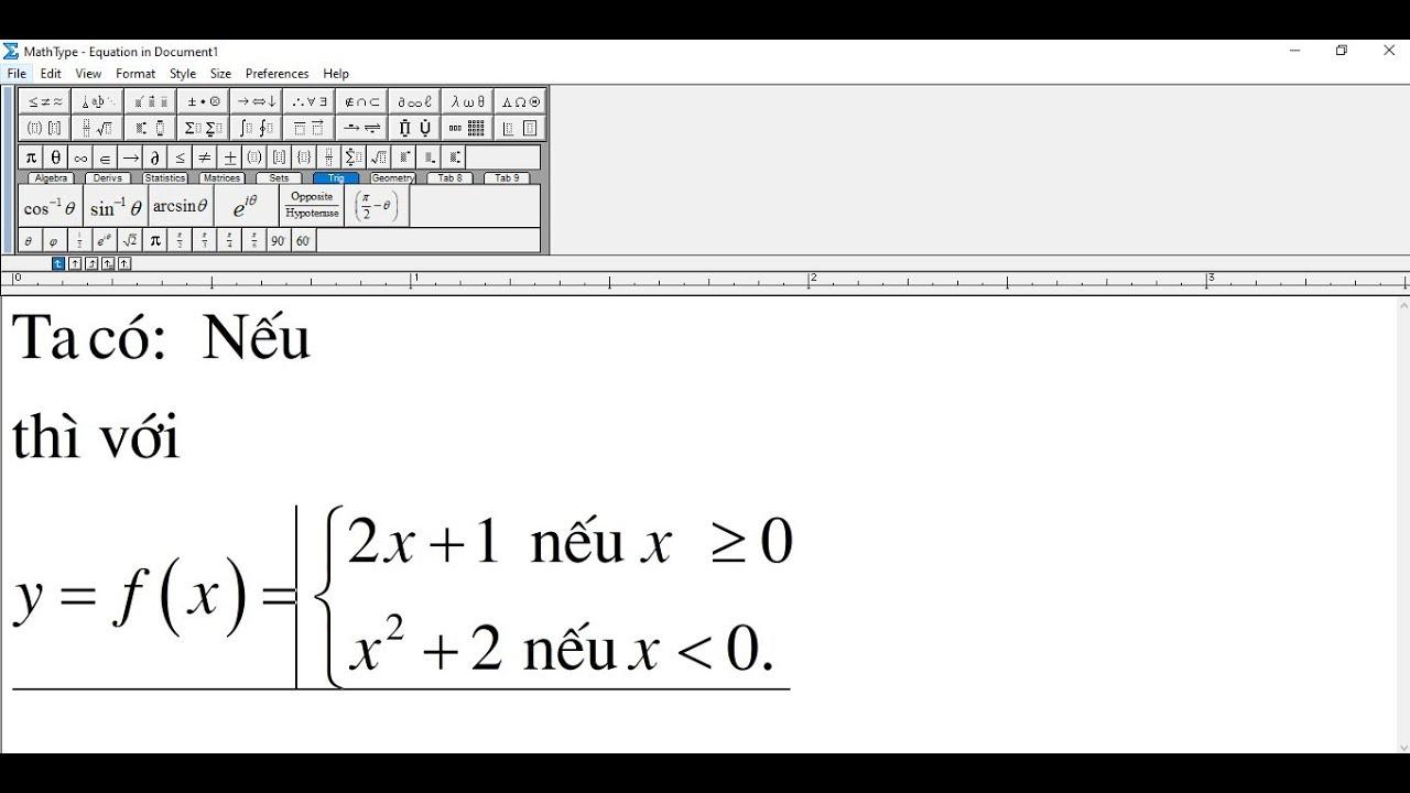 Hướng dẫn gõ tiếng việt có dấu  trong mathtype