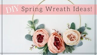DIY SPRING FLORAL WREATH    Easy Wreath ideas 2018   Lynette Yoder
