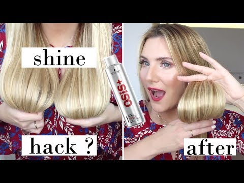 HAIR HACK FOR GLOSSY HAIR? OSIS SPARKLER SHINE SPRAY FIRST IMPRESSIONS + ANNIVERSARY VLOG #3