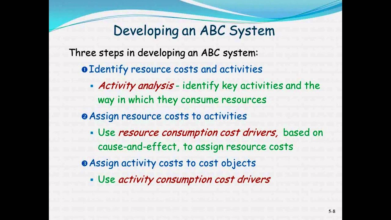 using an activity base costing abc system Contents what is activity-based costing abc why do companies and organizations use activity-based costing how does activity-based costing compare to traditional cost accounting quantitative example: traditional cost accounting for direct and indirect costs.