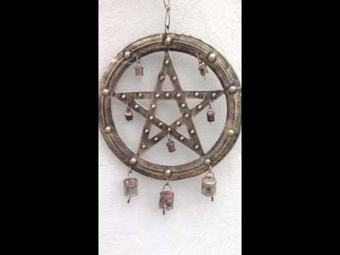 Pentacle Wind Chime - Available At Eclectic Artisans
