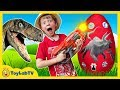 Giant Life Size Raptor Attacks Lb, Dinosaur Surprise Egg W  Dino Kid Family Game, Toys & Gummy Candy video