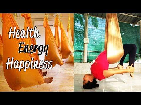 Aerial Yoga In India | Trying Aerial Yoga/Anti Gravity Yoga |Aerial Yoga Benefits thumbnail
