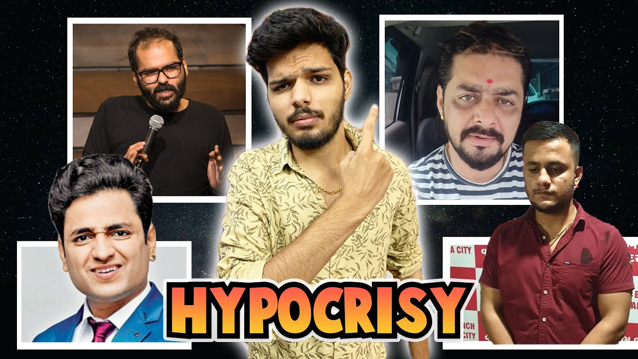 DOUBLE STANDARDS OF UNFUNNY COMEDIANS (FT. HINDUSTANI BHAU AND SHUBHAM  MISHRA) | LAKSHAY CHAUDHARY - YouTube