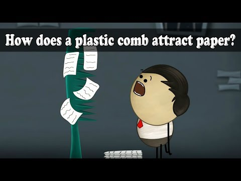 How Does A Plastic Comb Attract Paper? | #aumsum