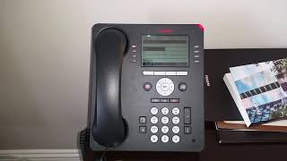 AVAYA  handset to reset or to clear up Massages