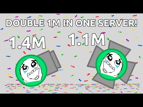 DOUBLE 1M IN ONE SERVER - Rocketeer 1.4m & Overlord 1.1m - Diep.io 4TDM (Jeshan's 1.4m Video)