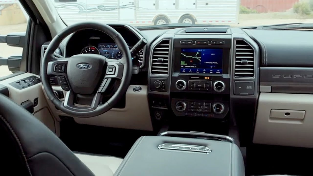 2020 Ford F-450 Super Duty Limited Interior - YouTube