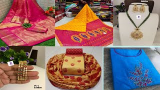 Beautiful Sarees, Kurtis Jewellery & Dress Materials Collections|| Courier Available for Single item