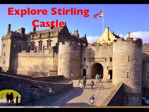 Stirling castle Guide & Wallace Monument, Scotland.