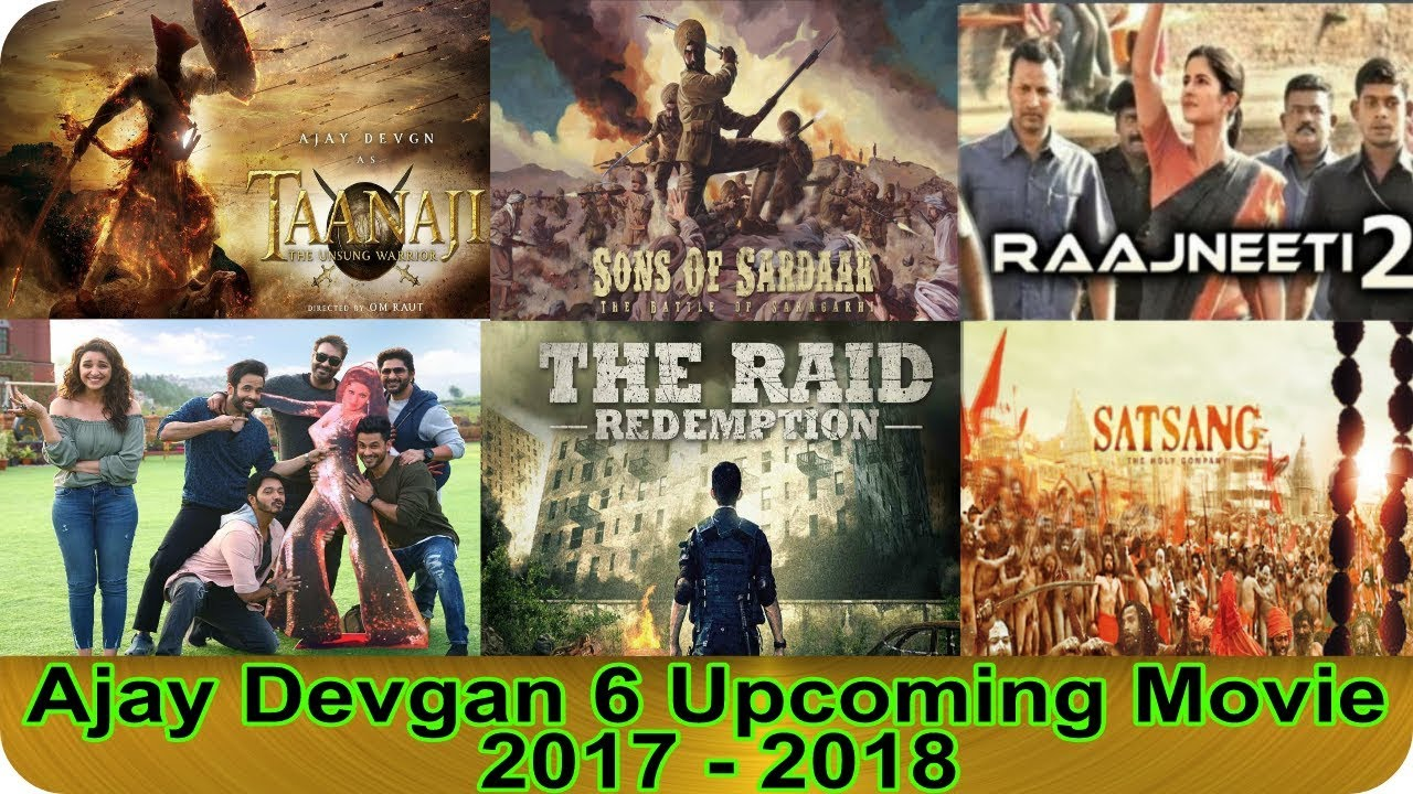 Ajay Devgan 6 Upcoming Movie 2017 – 2018 With Movie Cast and Release Date