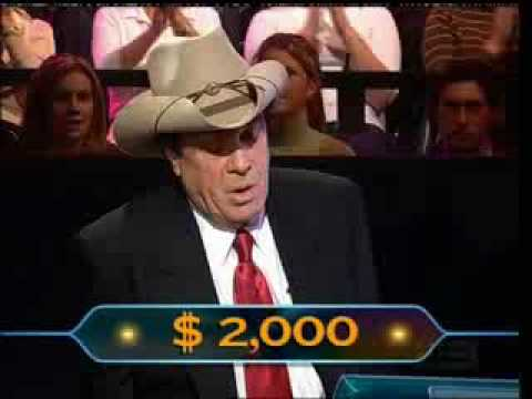 Molly Meldrum & Red Symons 'Who Wants To Be A Millionaire'...very tense. 500K on the line.