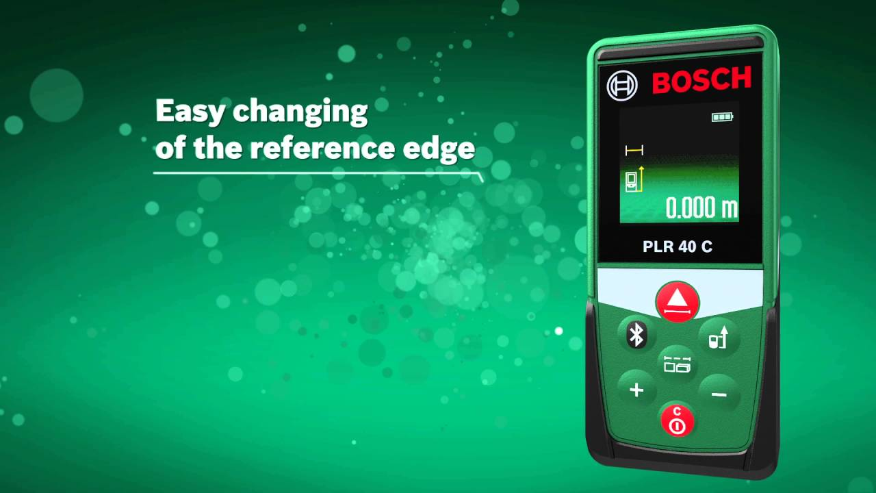How to calculate area and volumeu with the bosch laser measure plr