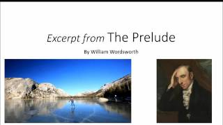 an analysis of the poem the prelude by william wordsworth