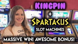 INCREDIBLE! MASSIVE WIN! Spartacus Gladiator of Rome Slot Machine!